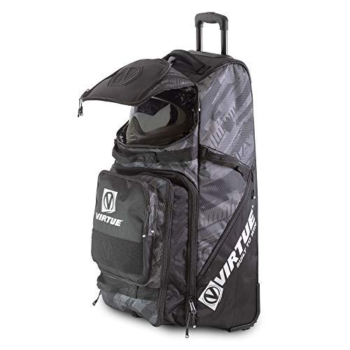 VIRTUE High Roller V3 Extra Large Travel Gear Bag with Rugged Wheels - 7000 Cubic Inch Storage Capacity (Graphic Black)