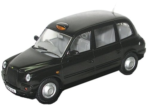Taxi Cab Diecast Model - Oxford Diecast Ld003 Tx4 Hackney Carriage London Taxi Cab 1:43 Scale In Display
