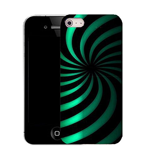 Mobile Case Mate IPhone 5 clip on Silicone Coque couverture case cover Pare-chocs + STYLET - aqua twirl dazzle pattern (SILICON)