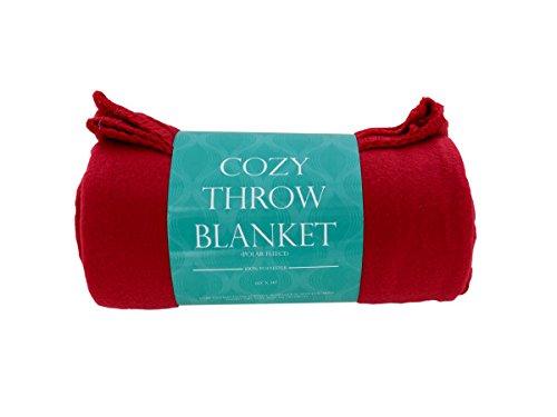 bulk buys OL634 Cozy Polar Fleece Throw (Fleece Throw Bulk)
