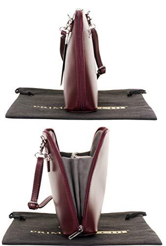 Primo Bag Dark Red Leather Sacchi Shoulder Body Cross Small Italian Handbag Smooth aFaBrxwZTq