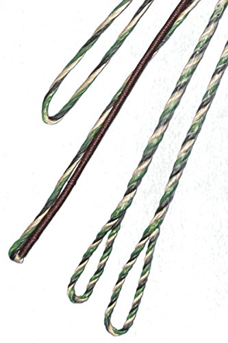 "CAMO 3-PLY FLEMISH - Fast Flight Plus - REPLACEMENT RECURVE BOWSTRING - BOW STRING - ACTUAL STRING LENGTH - By Traditional Gear Archery Products (Multiple Sizes) (58"" ACTUAL LENGTH)"