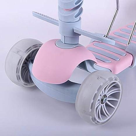 DMMW Scooter de Tres Ruedas para niños multifunción con función de ...