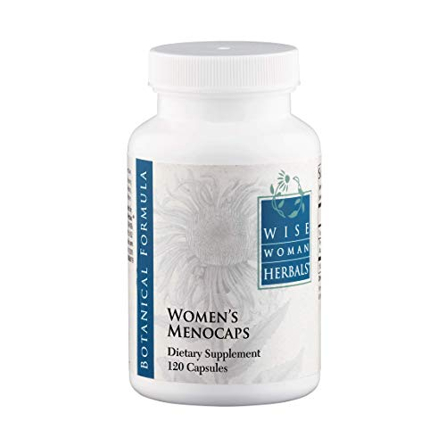Wise Woman Herbals - Women's Menocaps - 120 caps - All-Natural Menopause and Puberty Supplement - for Hot Flashes, Mood Swings and Night Sweats During Menopause, Promotes Emotional Balance