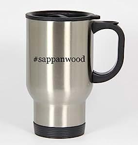 #sappanwood - Funny Hashtag 14oz Silver Travel Mug