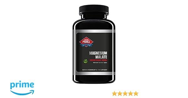Magnesio Malate 3000 por dosis - 180 tabletas veganas: Amazon.es: Salud y cuidado personal