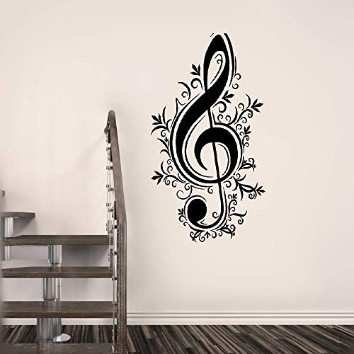 Yratui Wall Sticker Removable Home Decor Wall Vinyl Decals Music Notes Musician Melody Music School ()
