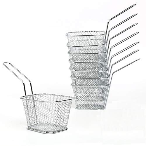 - Yaekoo 8Pcs Mini Mesh Wire French Fry Chips Baskets Net Strainer Kitchen Cooking Tools