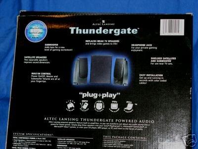 Altec Lansing Thundergate Video Gaming 3-Piece Speaker System