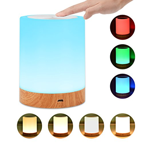 Comkes Touch Lamp, Bedside Table Lamp for Bedrooms Living Room Portable Night Light Desk Lamps w ...