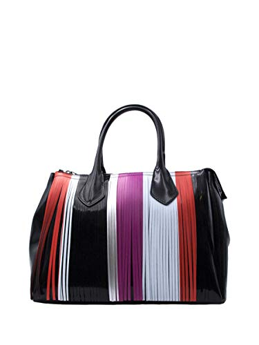 De Cm X Multicolor Caucho Bolso Hombro Mujer 29 Negro Gum Para Al 36 qFt71wf