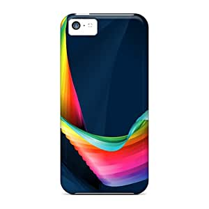 Premium Protection Digital Rainbow Case Cover For Iphone 5c- Retail Packaging
