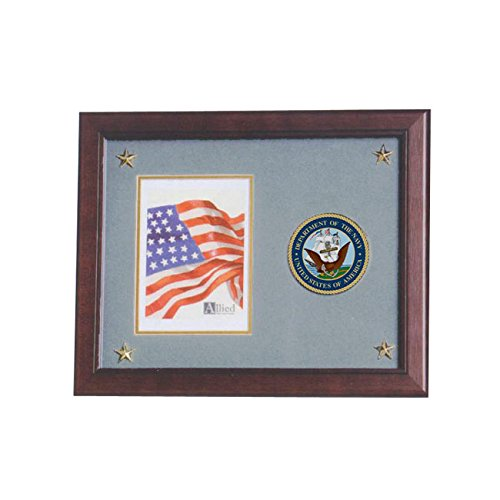 Allied Frame United States Navy Vertical Picture Frame with Medallion and - Navy States United Medallion