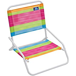 RIO Beach Wave 1-Position Beach Folding Sand Chair - Summer Stripes