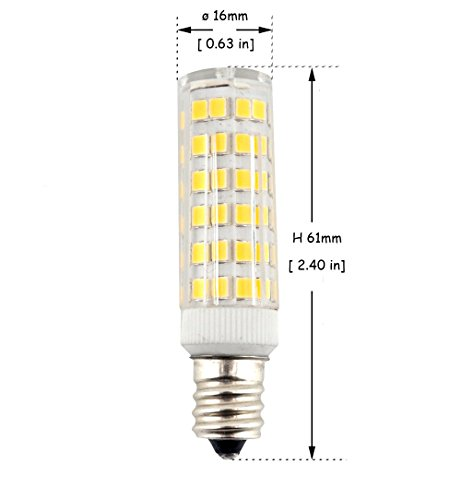 Chandelier Indoor Decorative Lighting Pack of 6 KINDEEP Dimmable E12 Candelabra LED 40W Halogen Replacement Daylight 6000K T3//T4 Candelabra Base E12 Bulb for Ceiling Fan