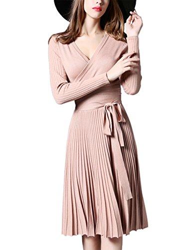 GlorySunshine Womens V neck Sleeve Pleated product image