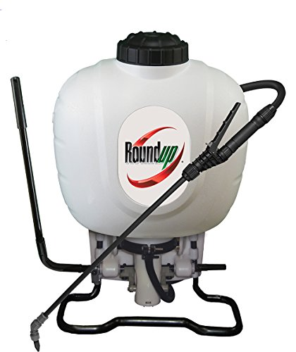 Diaphragm Sprayer - Roundup 190314 Backpack Sprayer for Fertilizers, Herbicides, Weed Killers & Insecticides, 4 Gallon