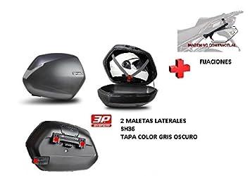KIT SHAD fijacion + maletas laterales tapa gris os SH36 BMW F800R (09-14): Amazon.es: Coche y moto
