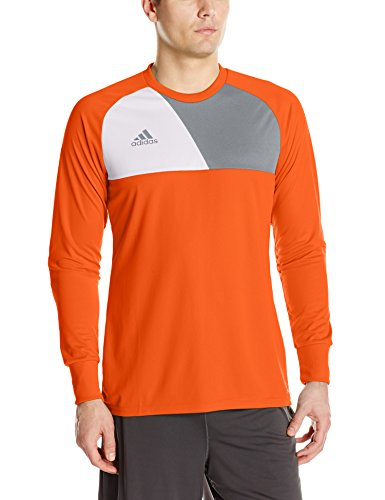adidas Men's Soccer Assita 17 Goalkeeper Jersey, Orange/White, Small