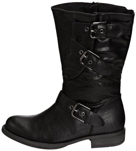 Femme Crinkle Manfield Taupe Boot Black brun Bottes Marron Manfield Bordeaux Dolcis Biker Noir clair 4HF4wvqr