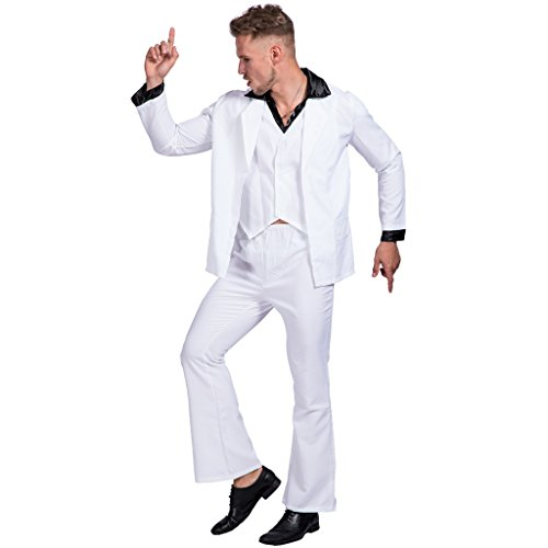 EraSpooky Men's Saturday Night Fever Disco Costume -