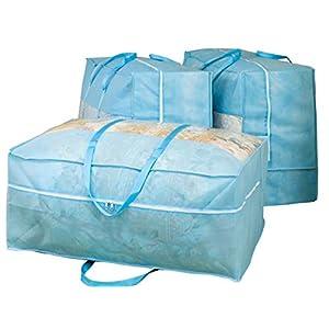 羽毛布団収納袋持ち手付3枚組