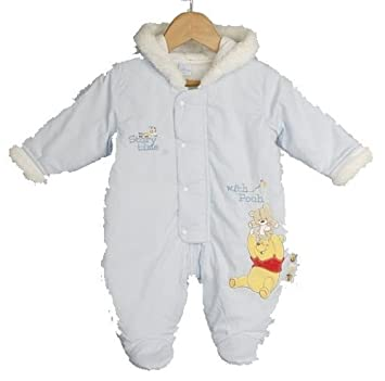 d8225835b Snow Suit Disney Deluxe Winnie Pooh Blue Snowsuit Newborn: Amazon.co.uk:  Baby