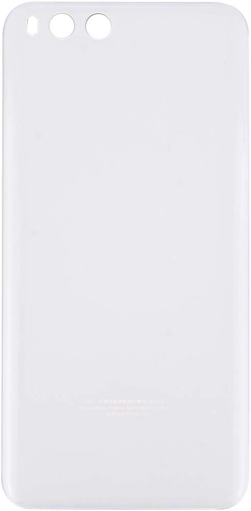Reemplazo dañado Vieja Cubierta Trasera Reemplazo de la Nueva batería de Cristal de Mi6 Smartphone Nuevo Caso de la contraportada para Xiaomi Mi 6, Color Blanco Negro/Azul (Color : Blanco)
