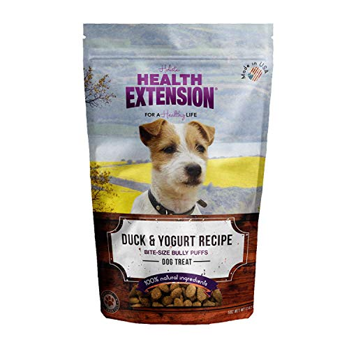 Health Extension Bully Puffs Dog Treat, Duck And Yogurt