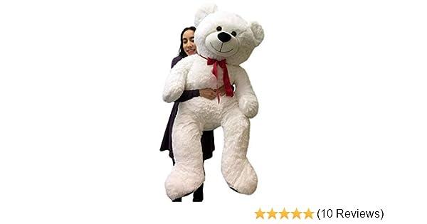80fe0bf0f1a4a Amazon.com  Big Plush Giant Valentine s Day Teddy Bear 52 Inch White Soft