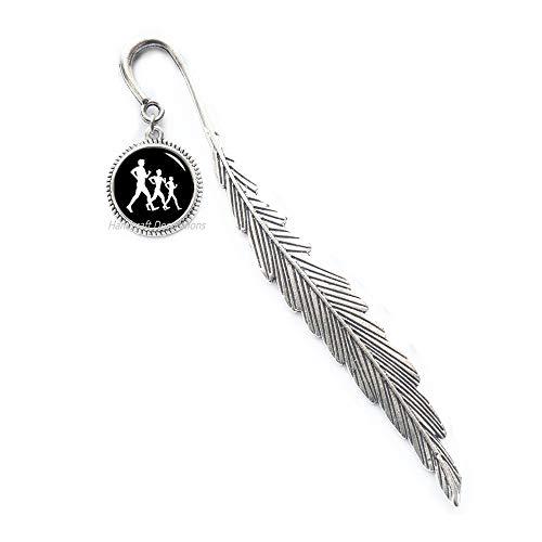 (Walking Race Bookmark,Sport Items Bookmark,Walkers Bookmark Race Walking Bookmark,Funny Gift,Glass Dome Bookmark.F201 (E2))