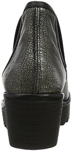 Yat Argenté Chelsea Fly Anthracitesilver Femme Black Boots London 046 gxqfw4fRz