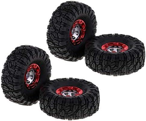 4個 RCカータイヤ ホイールヘックス 1/12 Wltoys 12428 RCカー用