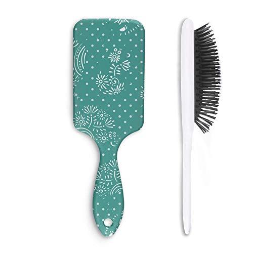 Chal Hoiy Boar Bristle Paddle Hairbrush animal hedgehog outline Cushion Hair Brush for Straightening, Styling & Drying, Designed for Women Men Kids Girls (Outline Hedgehog)