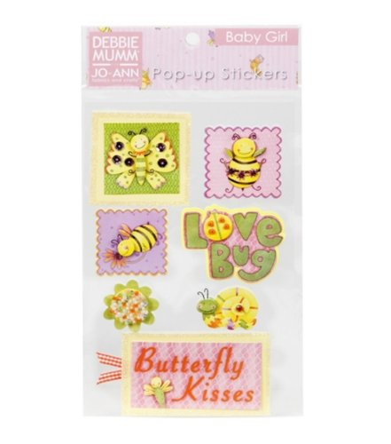 Mumm Debbie Girl (Debbie Mumm Girl Bugs Pop Ups Embellishment Stickers)
