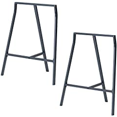"Product Details: -Material: Steel -Each Leg Dimensions: 23""W x 27.75""H x 15""L"
