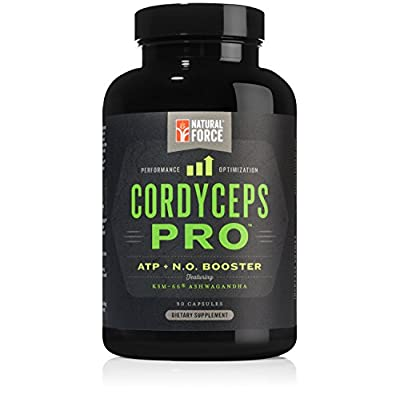 Adaptogen Blend Cordyceps Pro, *Best Adaptogens for Strength, Stamina, and Stress Relief*, Stimulant Free Adrenal Support Supplement, Made with Ashwagandha, Cordyceps, and Herbs by Natural Force, 90ct
