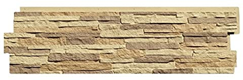NextStone Stacked Stone Panel Carolina Cocoa 5 Pack - Faux Stone Siding