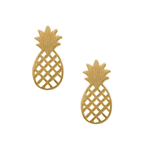 Spinningdaisy Handcrafted Brushed Pineapple Earrings product image