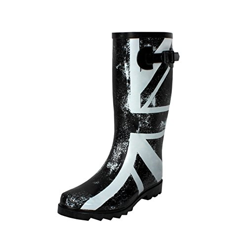 West Blvd Rainboots Rain-Boots, British Flag Rubber, - Designer Boots Uk Ladies