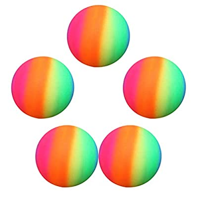 BESPORTBLE 5pcs 22cm Thickened Rainbow Balls PVC Sports Play Ball Kickball Flapping Ball Children Toy for Indoor Outdoor Playground Activities (Colorful): Sports & Outdoors