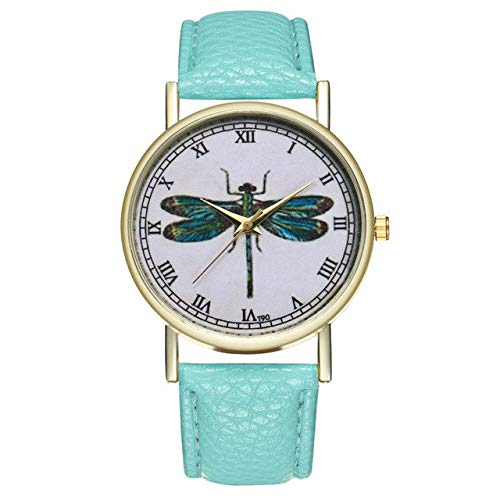 Watch Wrist White Dragon - Lindsie-Box - Minimalist Women Wrist Watch Numerals Quartz Hour Dragonfly Printed Moment Ladies Watch Reloj Mujer Clock Gift Bracelet