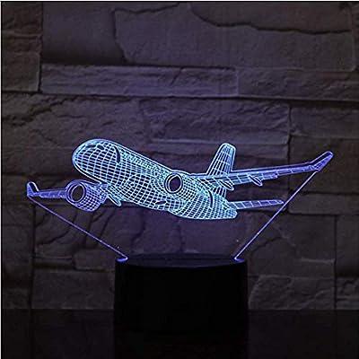 Night Light War Plane Fighter Plane 3D Night Light Table