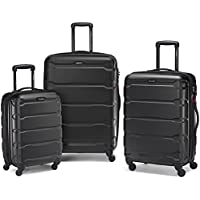 Samsonite 68311-1041 Omni Hardside Luggage Nested Spinner Set (Black)