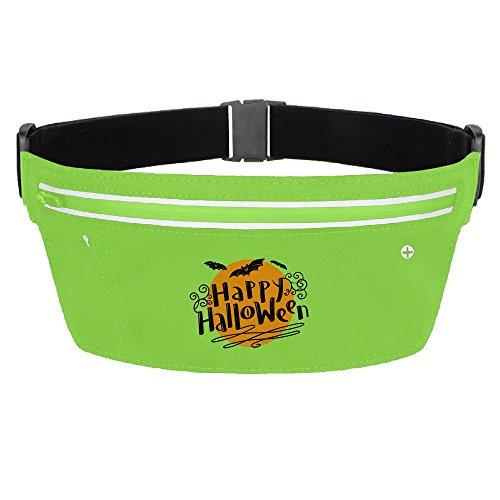 My Century Union Halloween Bat Zipper Pockets Water Resistant Fanny Pack Running Belt Waist Bags Waist Pack For Running Hiking Cycling Climbing (Target Halloween 2017 Theme)