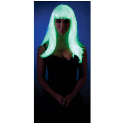 Party King Glow in The Dark Straight Costume Wig ()
