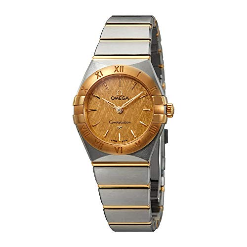 Omega Constellation Champagne Dial Ladies Steel and 18K Yellow Gold Watch 131.20.25.60.08.001