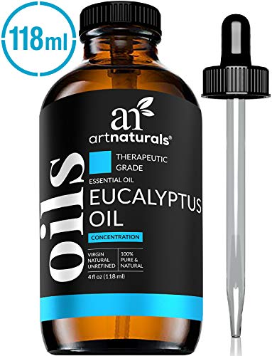 ArtNaturals 100% Pure Eucalyptus Essential Oil - (4.0 Fl Oz / 118ml) - Therapeutic Grade Natural Oils (Peppermint Scented Shampoo)