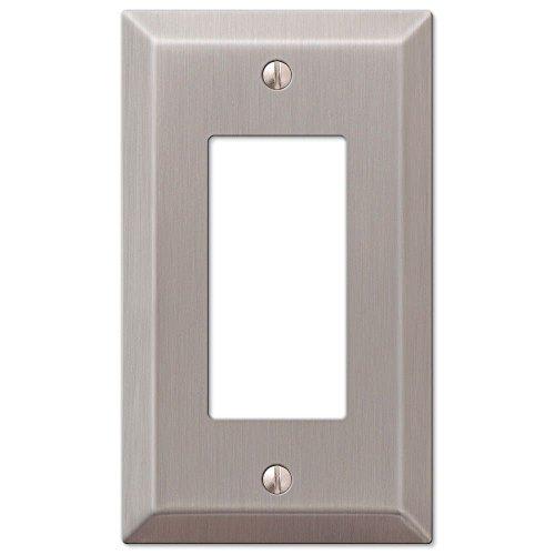 Single GFCI Rocker 1-Gang Decora Wall Switch Plate, Satin - Gfci Switchplate Light