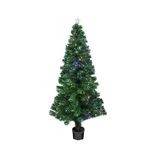 3' Pre-Lit LED Color Changing Fiber Optic Christmas Tree with Star Tree - Color Lit Led Pre